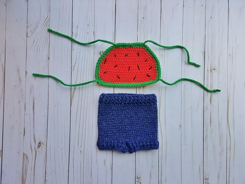 San Antonio Mall Fresno Mall Crochet newborn baby outfit watermelon shorts