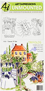 Art Impressions 4580 Tuscan Try 'Folds Cling Rubber Stamps, 9