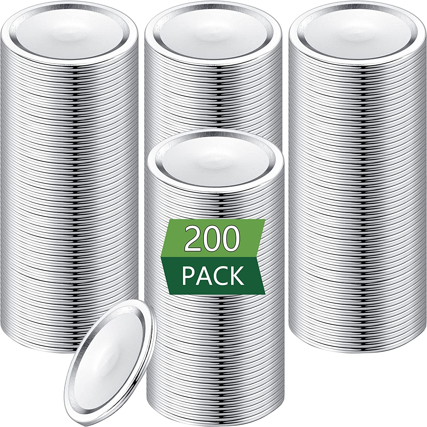 Price reduction 200-Count Wide Mouth Canning Lids for Discount mail order Ball Split- Kerr Jars -