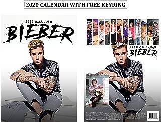 Justin Bieber Unofficial Calendar 2020 + Justin Bieber Keychain