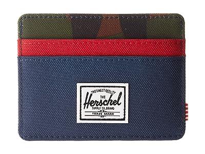 Herschel Supply Co. Charlie RFID (Navy/Woodland Camo/Red) Wallet Handbags