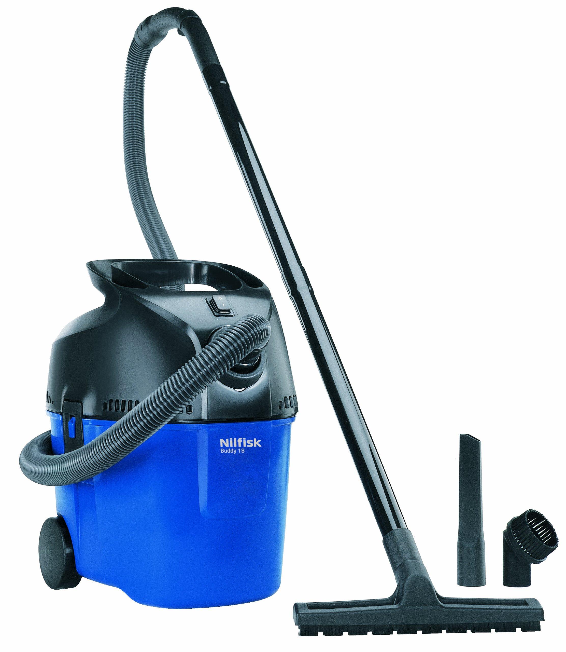 Nilfisk 302002317 Buddy 18 - Aspiradora con sistema de limpieza por agua y en seco, color azul: Amazon.es: Hogar