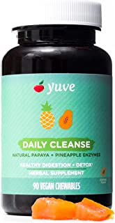 Yuve Natural Papaya Digestive Enzymes - Sugar-Free Chewable Candies - Promotes Better Digestion - Constipation & Bloating ...