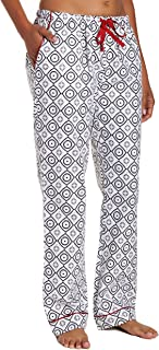 Noble Mount Womens Pajama Pants - 100% Cotton Flannel Lounge Pants with Pockets & Drawstring