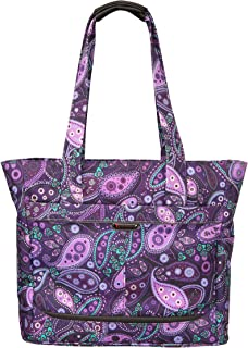 Mar Vista Tote, Purple Paisley, 18-Inch