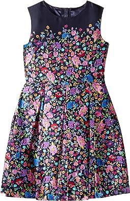Chine Garden Mikado Party Dress (Toddler/Little Kids/Big Kids)