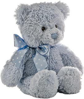 ebba Plush Blue Yummy Baby Boy Bear, 12