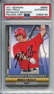Mike Trout Autographed 2011 Bowman Rookie Card (PSA)