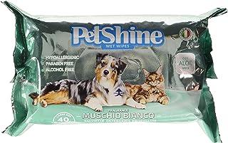 comprar comparacion PORRINI Toallitas Higiene para Perro y Gato,Musgo Blanco Aloe, 40 uds, Perro