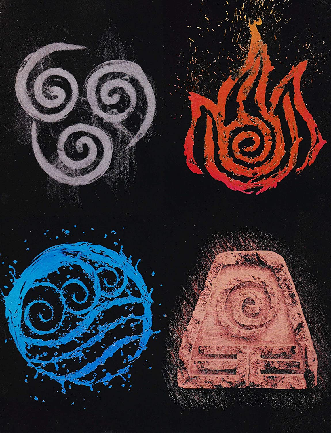 Avatar Limited price Four Elements on Poster Metal Choice