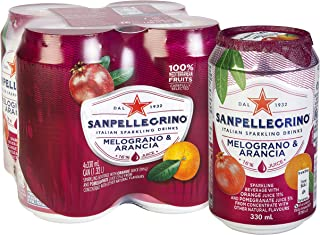 San Pellegrino Melograno E Arancia Can, 330ml (Pack of 4)