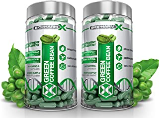 Biopharm-X x2 Pure Green Coffee Bean Extract - Highest Strength Diet Pills! Clinically Proven Weight Loss / Slimming Pills (120 Capsules | 2 Month Supply)