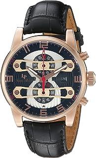Lucien Piccard Men's LP-40045-RG-01 Bosporus Analog Display Quartz Black Watch