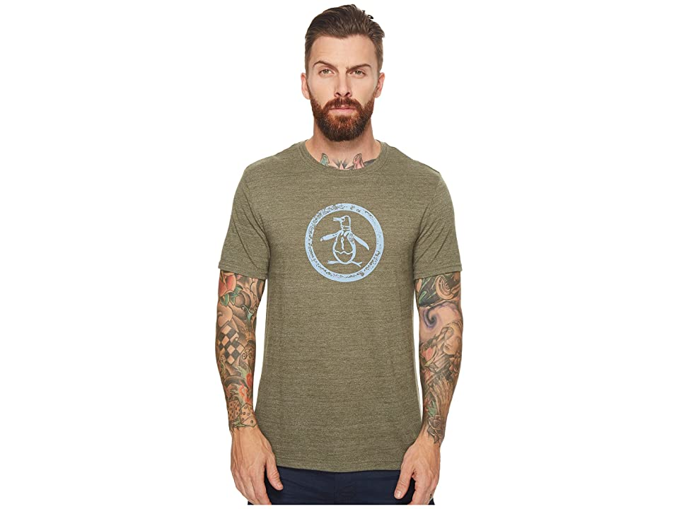 Original Penguin Tri-Blend Circle Logo Tee (Forest Night) Men