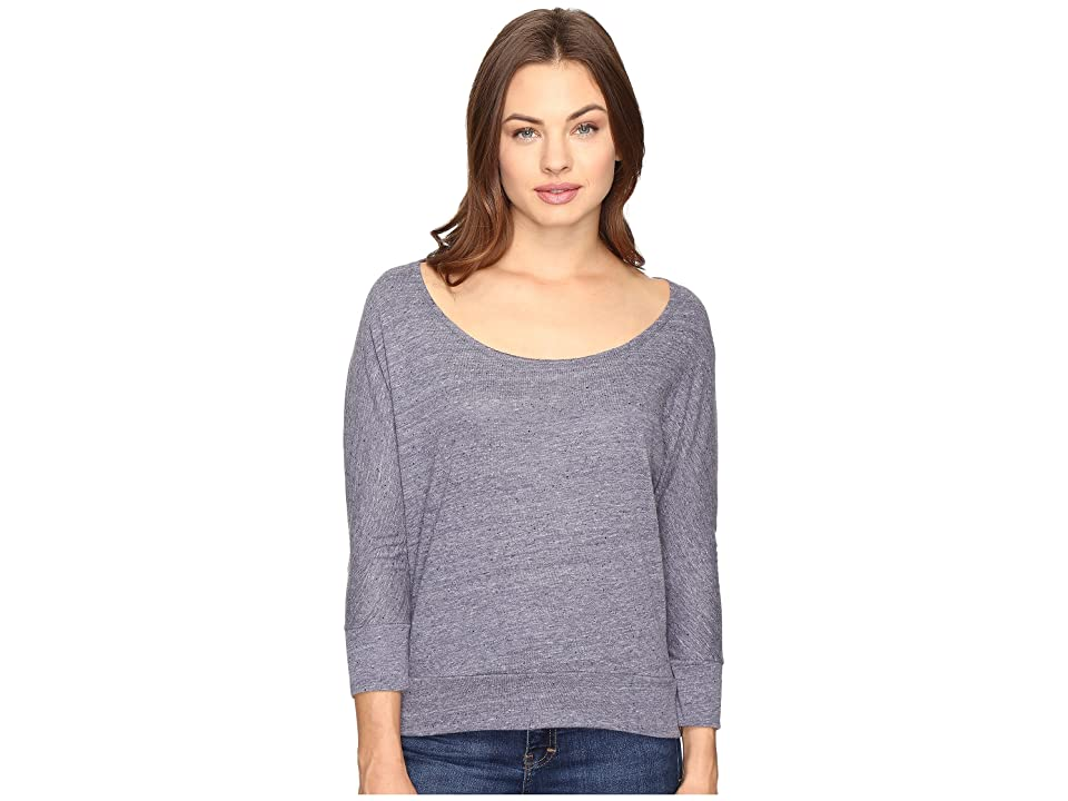 Alternative Eco Nep Jersey Cabin Fever Dolman Top (Eco Midnight) Women