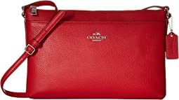 COACH Polished Pebble Journal Crossbody,True Red
