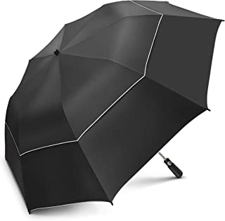 EEZ-Y 58 Inch Folding Golf Umbrella with Large Windproof Double Vented Canopy –..