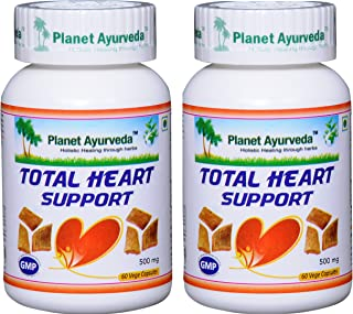 Planet Ayurveda Total Heart Support, 500mg 120 Vege Capsules - 2 Bottles