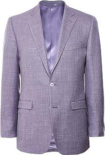 Jules B Men's Linen Silk Jacket Purple