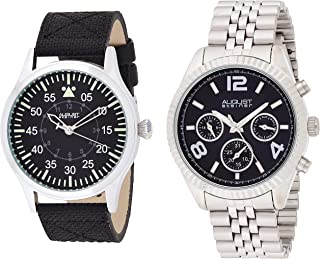 August Steiner Watch Set Analog Display Swiss Quartz for Men AS8120SSB