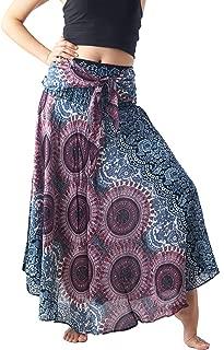 Women's Long Maxi Hippie Bohemian Skirt Gypsy Dress Boho Clothes Flowers One Size Fits Asymmetric Hem Design