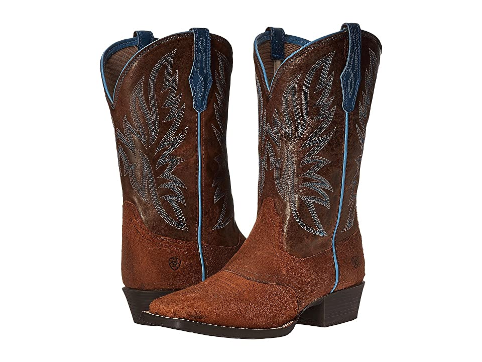 Ariat Kids Outrider (Toddler/Little Kid/Big Kid) (Grizzly Oak/Wood) Cowboy Boots