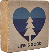 Life is Good Small Wooden Sign Heart Tree BONE, One Size