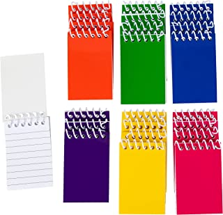 Blue Panda 24-Pack Bulk Mini Spiral Notepads for Kids Party Favors, Lined Paper, 6 Color, 2 x 3.5 Inches