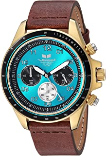 Vestal 'ZR2' Quartz Stainless Steel and Leather Casual Watch, Color:Brown (Model: ZR243L23.BR)