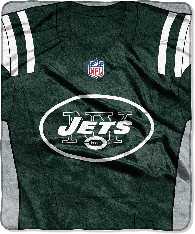 Northwest NFL New York Jets Royal Max 64% OFF Plus One Size Raschel Throw Ranking TOP20
