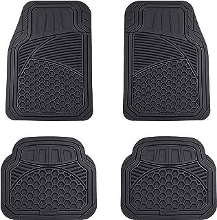 AmazonBasics 4 Piece Heavy Duty Car Floor Mat, Black