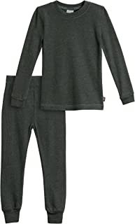 City Threads Boys Thermal Underwear Set Long John, Soft Breathable Cotton Base Layer - Made in USA