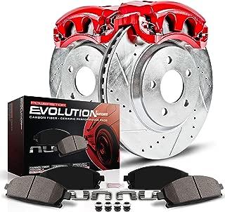 Power Stop Z23 Evolution KC6961 Front Kit Rotors, Carbon-Fiber Ceramic Pads, Brake Calipers