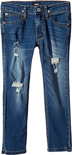 Jude Skinny French Terry Jeans in Blue Steel (Toddler/Little Kids/Big Kids)