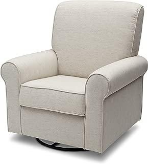 Delta Children Avery Upholstered Glider Swivel Rocker Chair, Sand