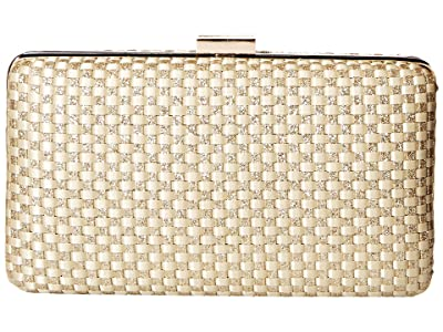Jessica McClintock Noelle Woven Satin (Light Gold) Handbags