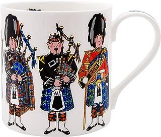 Alison Gardiner Famous Illustrator - Scottish Pipers Commemorative Fine Bone China Coffee Cup and Tea Mug - Premium Quality and Detail