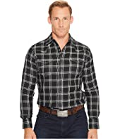Wrangler - Long Sleeve Retro Snap Plaid