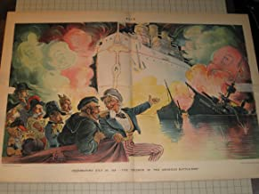 1898 Puck Color Litho: Uncle Sam - Spanish American War