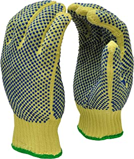 G & F 1670L Cut Resistant Work Gloves, 100-Percent Kevlar Knit Work Gloves, Make by DuPont Kevlar, Protective Gloves to Secure Your hands from Scrapes, Cuts in Kitchen, Wood Carving, Carpentry and Dea
