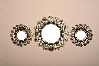 Conjunto de 3 peças de espelhos decorativos separados All American Collection, exibição de realce de parede