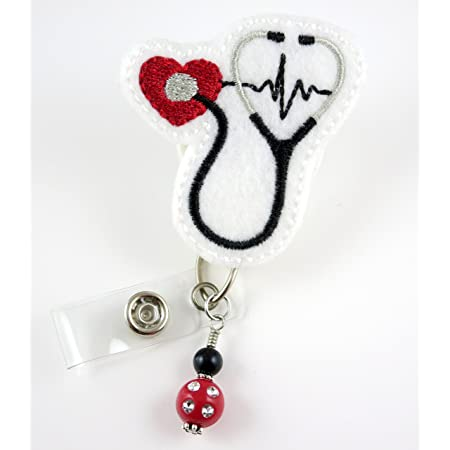 Stethoscope NST Nurse Tech Feltie Badge Reel Holder interchangable FREE SHIPPING