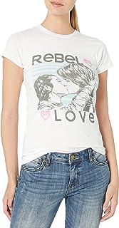Star Wars Junior's Slim Rebel Love Graphic Tee