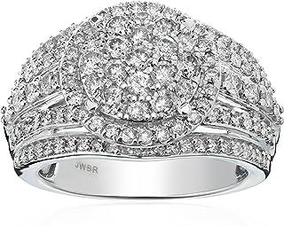 10k 白金钻石新娘戒指