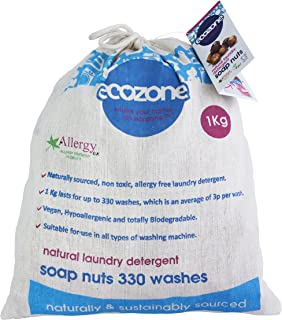 Ecozone - Nueces de jabon para lavar la ropa (bolsa de 1 kg, hasta 330 lavados)