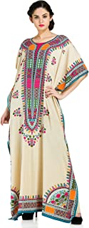 Plus Size Kaftan Dress Tunic Long Maxi Kimono Caftan Gown Nightdress Beach Party Casual Dress
