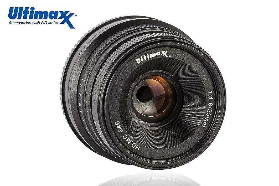 Ultimaxx 25MM f/1.8 Manual Lens for Sony E-Mount (NEX) Mirrorless Cameras A7III A9 NEX 3 3N 5 NEX 5T NEX 5R NEX 6 7 A5000 A5100 A6000 A6100 A6300 A6500