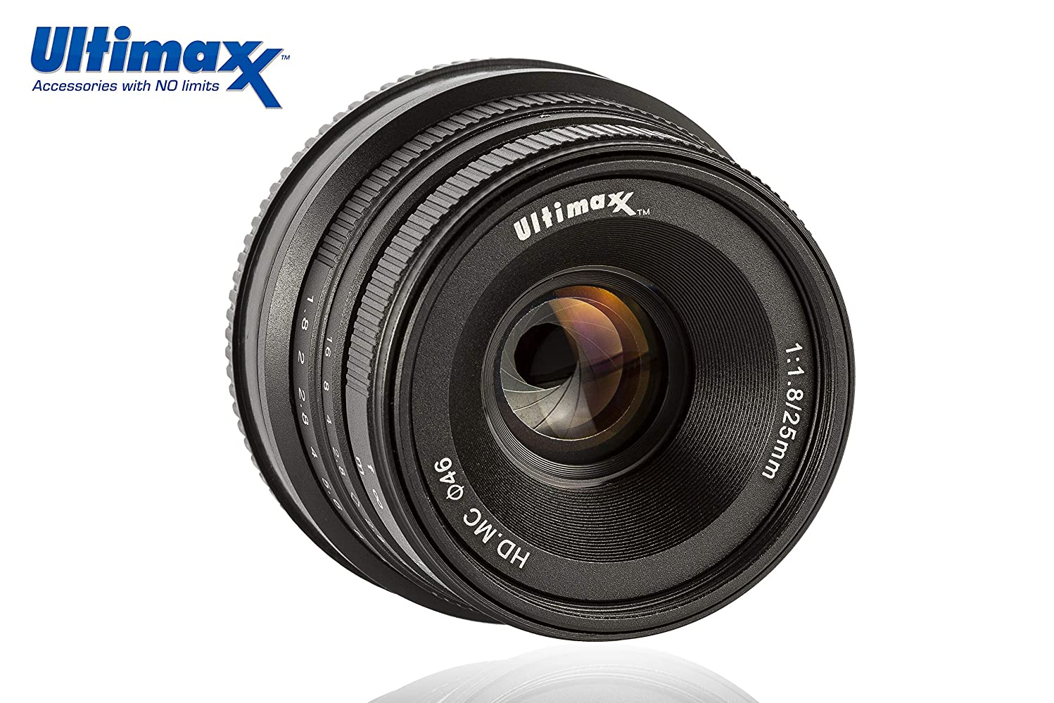Ultimaxx 25MM f/1.8 Manual Lens for Sony E-Mount (NEX) Mirrorless Cameras A7III A9 NEX 3 3N 5 NEX 5T NEX 5R NEX 6 7 A5000 A5100 A6000 A6100 A6300 A6500