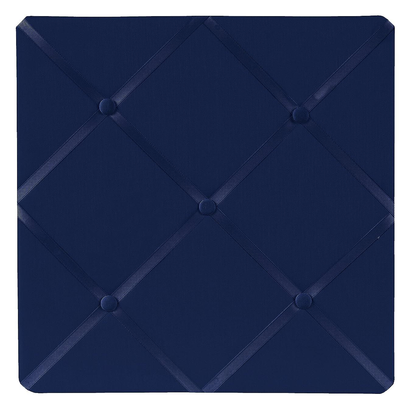 Sweet Jojo Designs Navy Blue Fabric Memory/Memo Photo Bulletin Board