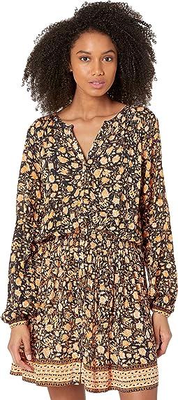 Button Smocked Dobby Dress